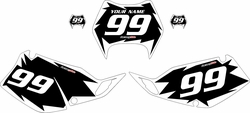 1997-2008 Kawasaki KLX300 Custom Pre-Printed Background Black - White Shock Series by Factory Ride