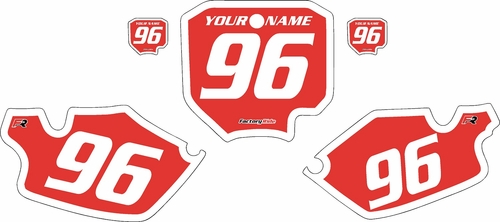 1996-2002 Honda CR80 Pre-Printed Backgrounds Red - White Bold Pinstripe by FactoryRide