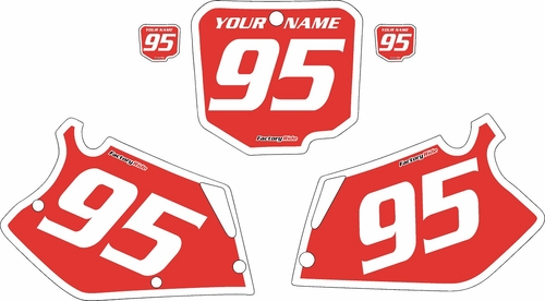 1995-1996 Honda CR250 Pre-Printed Backgrounds Red - White Bold Pinstripe by FactoryRide