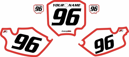 1996-2002 Honda CR80 White Pre-Printed Background - Red Bold Pinstripe by FactoryRide