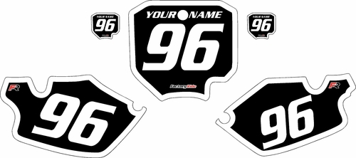 1996-2002 Honda CR80 Black Pre-Printed Background - White Bold Pinstripe by FactoryRide
