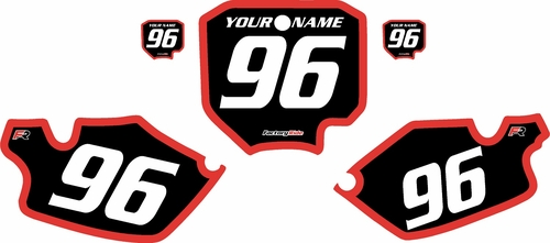 1996-2002 Honda CR80 Black Pre-Printed Background - Red Bold Pinstripe by FactoryRide