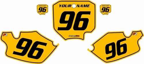 1996-2002 Honda CR80 Pre-Printed Backgrounds Yellow - Black Pinstripe by FactoryRide