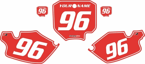 1996-2002 Honda CR80 Pre-Printed Backgrounds Red - White Pinstripe by FactoryRide