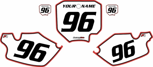 1996-2002 Honda CR80 Pre-Printed Backgrounds White - Red Pro Pinstripe by FactoryRide