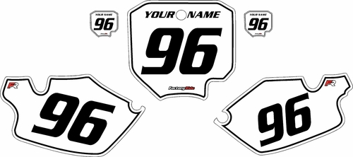 1996-2002 Honda CR80 White Pre-Printed Background - Black Pinstripe by FactoryRide