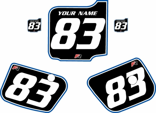 1983 Husqvarna CR500 Pre-Printed Backgrounds Black - Blue Pro Pinstripe by FactoryRide