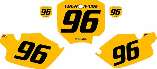 1996-2002 Honda CR80 Pre-Printed Backgrounds Yellow - Black Numbers by FactoryRide