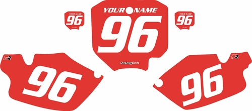 1996-2002 Honda CR80 Pre-Printed Backgrounds Red - White Numbers by FactoryRide