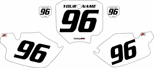 1996-2002 Honda CR80 White Pre-Printed Background - Black Numbers by FactoryRide