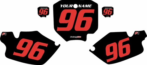 1996-2002 Honda CR80 Pre-Printed Backgrounds Black - Red Numbers by FactoryRide