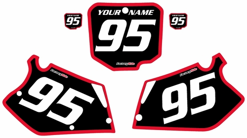1995-1996 Honda CR250 Pre-Printed Backgrounds Black - Red Bold Pinstripe by FactoryRide