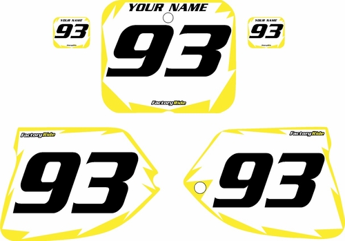 1993-1995 Suzuki RM125 Pre-Printed Backgrounds White - Yellow Shock Series by FactoryRide