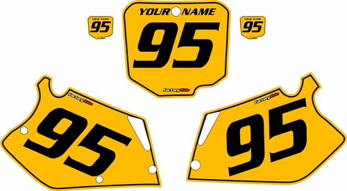 1995-1996 Honda CR250 Pre-Printed Backgrounds Yellow - Black Pinstripe by FactoryRide