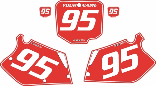 1995-1996 Honda CR250 Pre-Printed Backgrounds Red - White Pinstripe by FactoryRide