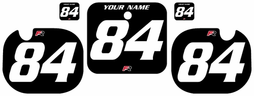 1984 Honda CR500 Black Pre-Printed Backgrounds - White Numbers by Factory Ride