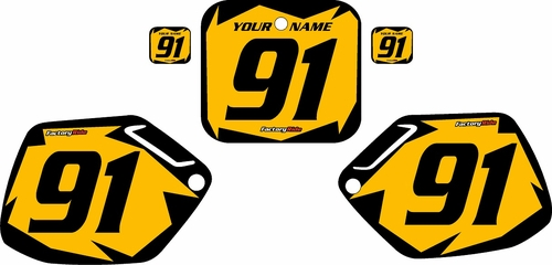 1991-1992 Honda CR125 Pre-Printed Backgrounds Yellow - Black Shock Series by FactoryRide