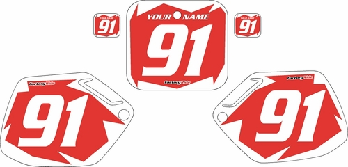 1991-1992 Honda CR125 Pre-Printed Backgrounds Red - White Shock Series by FactoryRide