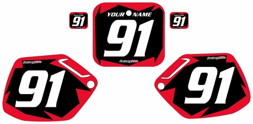 1991-1992 Honda CR125 Pre-Printed Backgrounds Black - Red Shock Series by FactoryRide