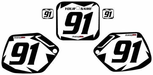 1991-1992 Honda CR125 Custom White Pre-Printed Background - Black Shock Series by Factory Ride