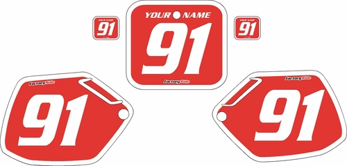 1991-1992 Honda CR125 Pre-Printed Backgrounds Red - White Bold Pinstripe by FactoryRide