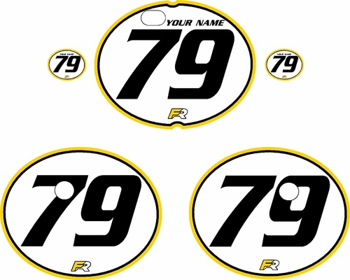 1979-1980 Suzuki RM125 White Pre-Printed Backgrounds - Yellow Pro Pinstripe by FactoryRide
