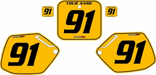 1991-1992 Honda CR125 Pre-Printed Backgrounds Yellow - Black Pinstripe by FactoryRide