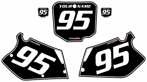 1995-1996 Honda CR250 Custom Black Pre-Printed Background - White Pinstripe by Factory Ride