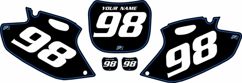 1998-1999 Yamaha YZF400 Pre-Printed Backgrounds Black - Blue Pinstripe by FactoryRide