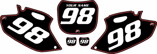 1998-1999 Yamaha YZF400 Pre-Printed Backgrounds Black - Red Pinstripe by FactoryRide