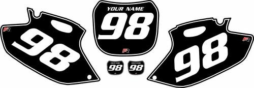 1998-1999 Yamaha YZF400 Black Pre-Printed Background - White Pinstripe by Factory Ride