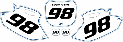 1998-1999 Yamaha YZF400 Pre-Printed Backgrounds White - Blue Pinstripe by FactoryRide