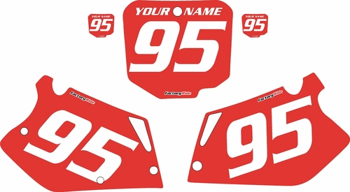 1995-1996 Honda CR250 Pre-Printed Backgrounds Red - White Numbers by FactoryRide
