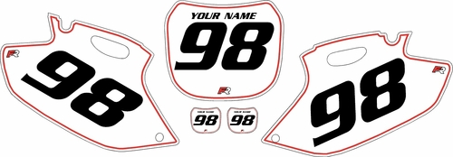 1998-1999 Yamaha YZF400 Pre-Printed Backgrounds White - Red Pinstripe by FactoryRide