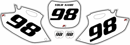 1998-1999 Yamaha YZF400 White Pre-Printed Background - Black Pinstripe by Factory Ride