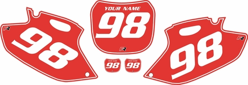 1998-1999 Yamaha YZF400 Pre-Printed Backgrounds Red - White Pinstripe by FactoryRide