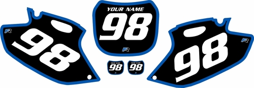 1998-1999 Yamaha YZF400 Pre-Printed Backgrounds Black - Blue Bold Pinstripe by FactoryRide