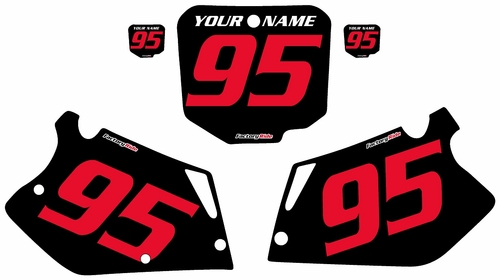 1995-1996 Honda CR250 Pre-Printed Backgrounds Black - Red Numbers by FactoryRide