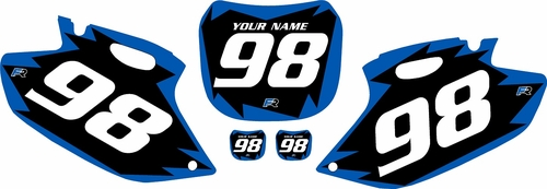 1998-1999 Yamaha YZF400 Pre-Printed Backgrounds Black - Blue Shock Series by FactoryRide