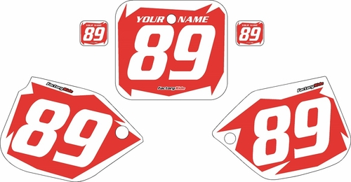 1989-1990 Honda CR125 Pre-Printed Backgrounds Red - White Shock Series by FactoryRide
