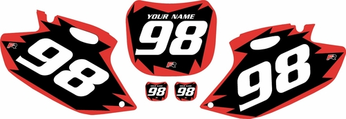 1998-1999 Yamaha YZF400 Pre-Printed Backgrounds Black - Red Shock Series by FactoryRide