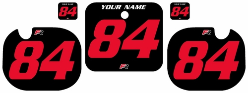 1984 Honda CR500 Pre-Printed Backgrounds Black - Red Numbers by FactoryRide