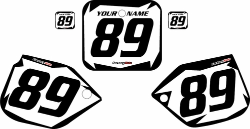 1989-1990 Honda CR125 Custom White Pre-Printed Background - Black Shock Series by Factory Ride