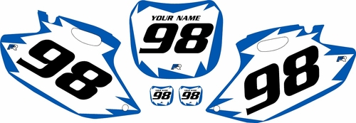 1998-1999 Yamaha YZF400 Pre-Printed Backgrounds White - Blue Shock Series by FactoryRide