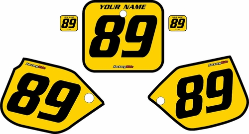 1989-1990 Honda CR125 Pre-Printed Backgrounds Yellow - Black Bold Pinstripe by FactoryRide
