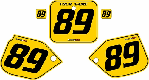 1989-1990 Honda CR125 Pre-Printed Backgrounds Yellow - Black Pinstripe by FactoryRide