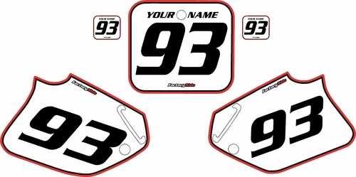 1993-1994 Honda CR125 Pre-Printed Backgrounds White - Red Pro Pinstripe by FactoryRide