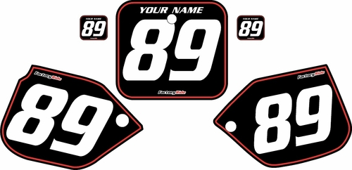 1989-1990 Honda CR125 Black Pre-Printed Background - Red Pinstripe by FactoryRide