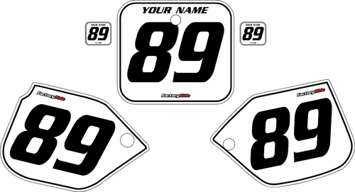 1989-1990 Honda CR125 Custom White Pre-Printed Background - Black Pinstripe by Factory Ride