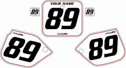 1989-1990 Honda CR125 White Pre-Printed Background - Red Pinstripe by FactoryRide
